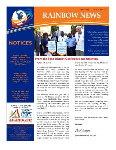 thumbnail of RAINBOW NEWSLETTER ISSUE 35 – MAY 2017