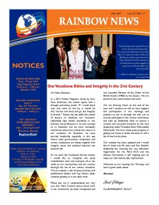 thumbnail of RAINBOW NEWSLETTER ISSUE 22 – JANUARY 2017